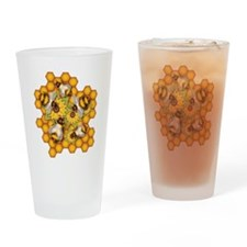 Honeybees Drinking Glass