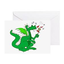 Roasting Marshmallows Dragon Greeting Card