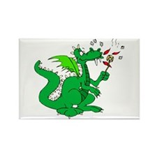 Roasting Marshmallows Dragon Rectangle Magnet