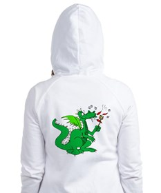 Roasting Marshmallows Dragon Fitted Hoodie