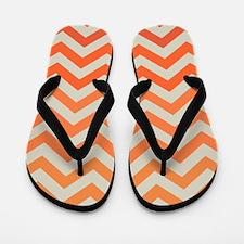 Orange Ombre Chevron Pattern Flip Flops