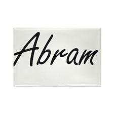 Abram Artistic Name Design Magnets