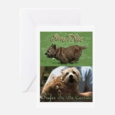 Cute Funny norwich terrier Greeting Card
