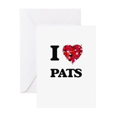 I Love Pats Greeting Cards