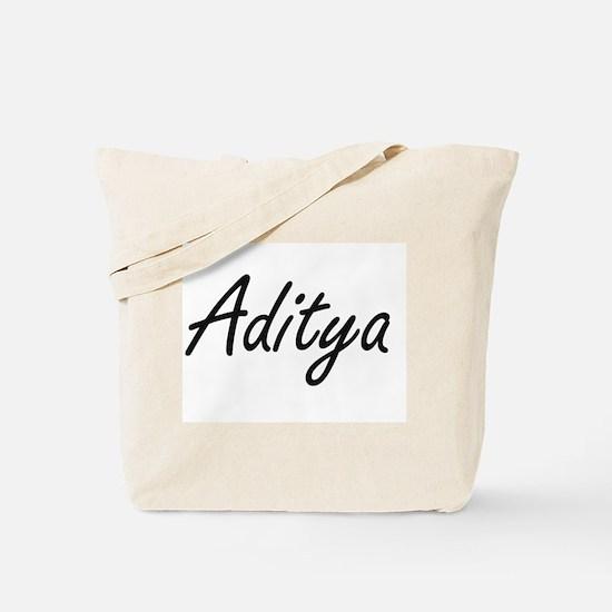 Aditya Artistic Name Design Tote Bag