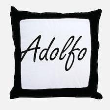 Adolfo Artistic Name Design Throw Pillow