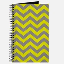 Chartreuse & Grey Chevron Pattern Journal