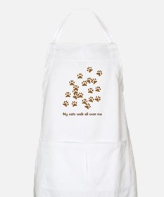 Cats Walk All Over Me BBQ Apron