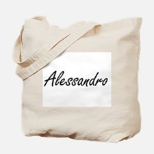 Alessandro Artistic Name Design Tote Bag