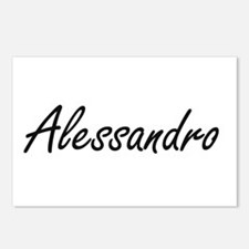 Alessandro Artistic Name Postcards (Package of 8)