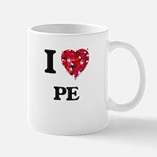 I Love Pe Mugs