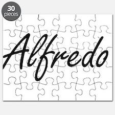 Alfredo Artistic Name Design Puzzle