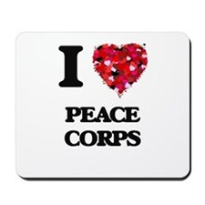 I Love Peace Corps Mousepad