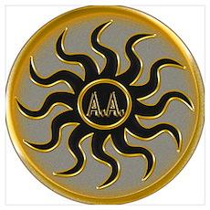 Gold A.A Symbol Poster