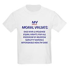My Moral Values Kids T-Shirt