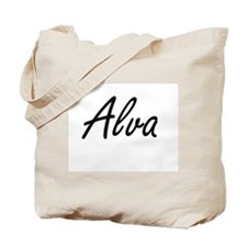 Alva Artistic Name Design Tote Bag