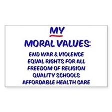 My Moral Values Rectangle Decal