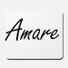 Amare Artistic Name Design Mousepad