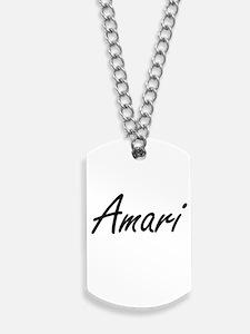 Amari Artistic Name Design Dog Tags
