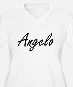 Angelo Artistic Name Design Plus Size T-Shirt