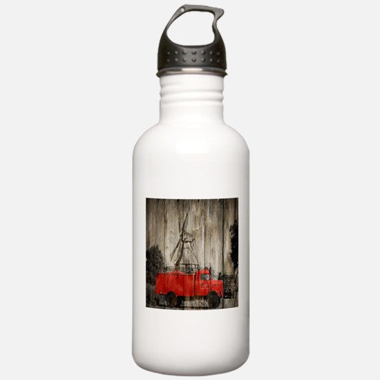 farm landscape vintage Sports Water Bottle