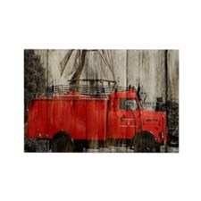 farm landscape vintage fire truck Magnets
