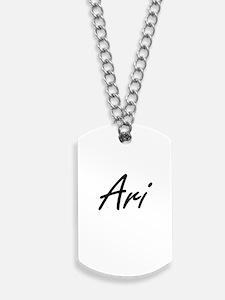 Ari Artistic Name Design Dog Tags