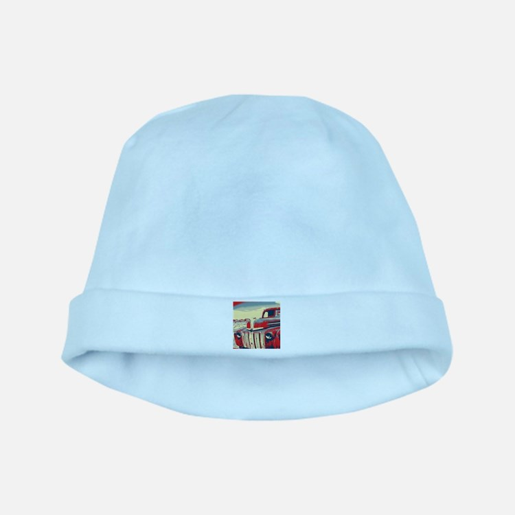 cool retro old truck baby hat