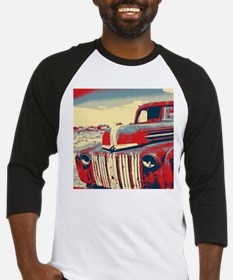 cool retro old truck Baseball Jersey