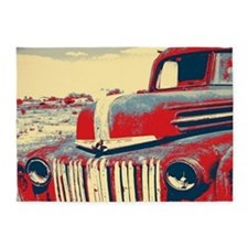 Americana retro old truck 5'x7'Area Rug