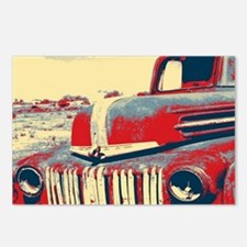 Americana retro old truck Postcards (Package of 8)