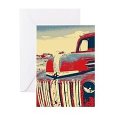 Americana retro old truck Greeting Cards