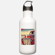Americana retro old tr Sports Water Bottle