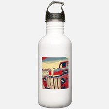 Americana retro old tr Sports Water Bottle