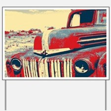 Americana retro old truck Yard Sign