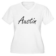 Austin Artistic Name Design Plus Size T-Shirt