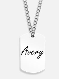 Avery Artistic Name Design Dog Tags