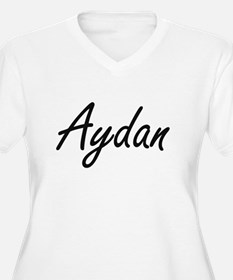 Aydan Artistic Name Design Plus Size T-Shirt