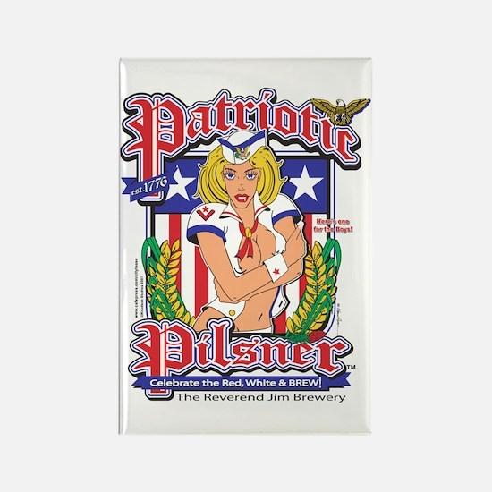 Patriotic Pilsner Rectangle Magnet