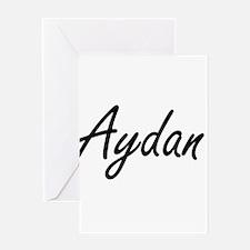 Aydan Artistic Name Design Greeting Cards