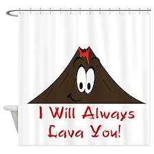 Funny Volcano Shower Curtain