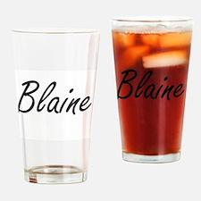 Blaine Artistic Name Design Drinking Glass