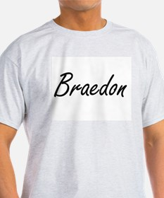 Braedon Artistic Name Design T-Shirt