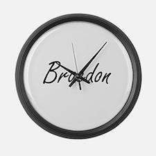 Braedon Artistic Name Design Large Wall Clock
