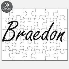 Braedon Artistic Name Design Puzzle
