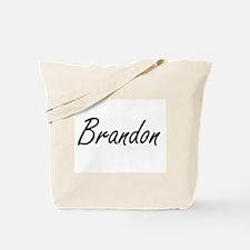 Brandon Artistic Name Design Tote Bag