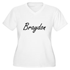 Braydon Artistic Name Design Plus Size T-Shirt