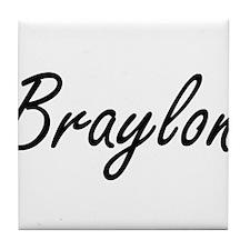 Braylon Artistic Name Design Tile Coaster