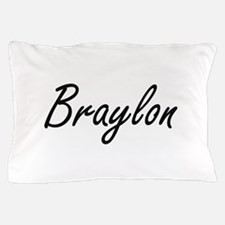 Braylon Artistic Name Design Pillow Case