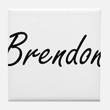 Brendon Artistic Name Design Tile Coaster